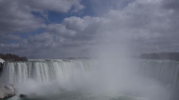 Niagara Falls Horseshoe Falls Slow Motion 02 - 25P Footage