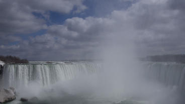 Niagara Falls Horseshoe Falls Slow Motion 02 - 25P Stock Video Footage