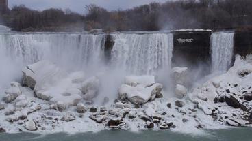 Niagara Falls American Falls Slow Motion 01 - 24P Stock Video Footage
