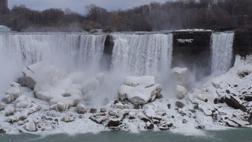 Niagara Falls American Falls Slow Motion 01 - 24P stock footage