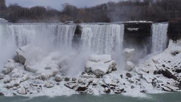Niagara Falls American Falls Slow Motion 01 - 30P Stock Video Footage