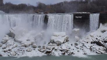 Niagara Falls American Falls Slow Motion 01 - 30P Footage