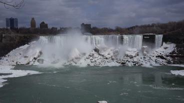 Niagara Falls American Falls Slow Motion 02 - 25P Stock Video Footage
