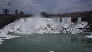Niagara Falls American Falls Slow Motion 02 - 25P Footage