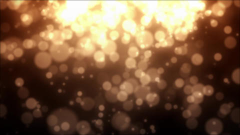 Gold Particles, Loop Stock Animation Stock Video Footage