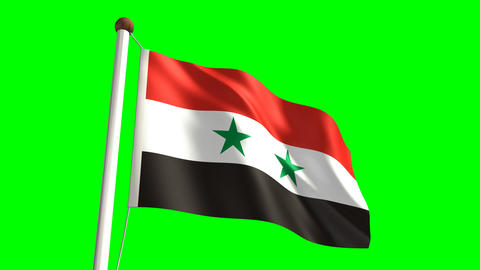 Syria flag Stock Video Footage