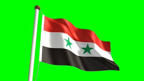 Syria flag Animation