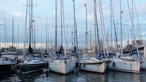 Yacht club Stock Video Footage