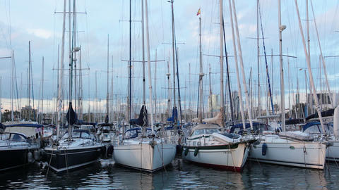 Yacht club Stock Video Footage