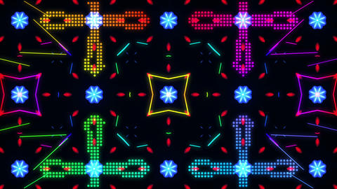 Disco Wall SN A 8d HD Stock Video Footage