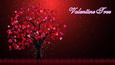 Valentine Tree stock footage