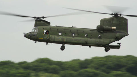 Chinook CH 47 fly by 10952 Footage