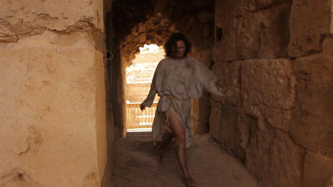 The gladiator slave women fugitive oppressed histo Stock Video Footage