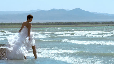 Wedding by the Sea Stock Video Footage