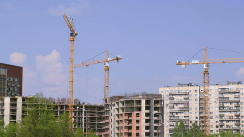 Construction of building. Time lapse Stock Video Footage