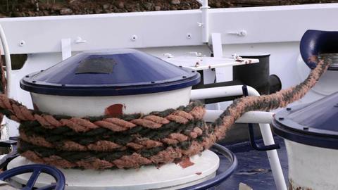 Mooring rope Stock Video Footage