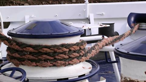 Mooring rope Stock Video Footage