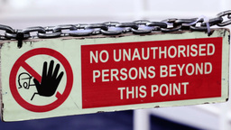 Sign - No unauthorized persons permitted beyond th Live Action