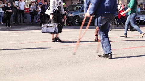 Pedestrian crosswalks on the Nevsky Avenue in Sain Footage