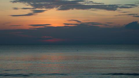 Sea sunset. Timelapse Footage