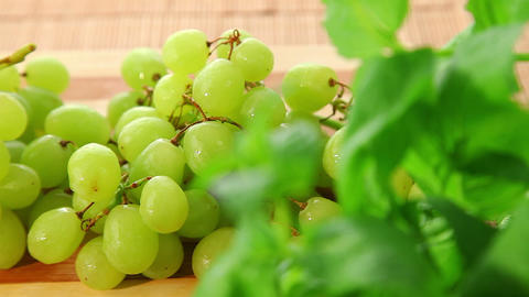 Bunch of tasty sweet green grapes - dolly shot Stock Video Footage