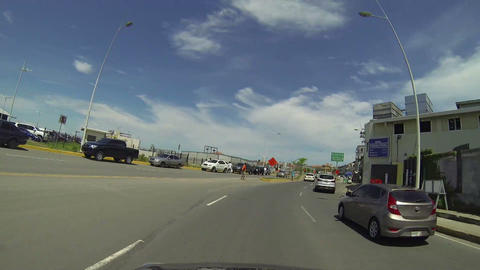 Traffic movement over a stunning skyline in Casco Stock Video Footage