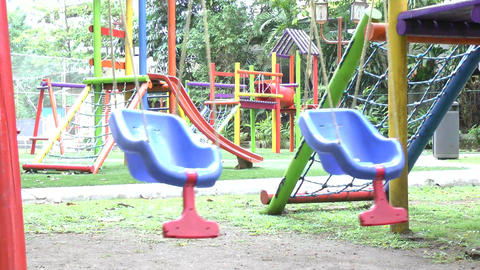 Empty swing set. Missing child concept Stock Video Footage