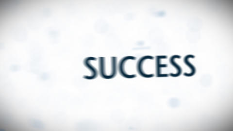 Bussiness Words Blue Stock Video Footage