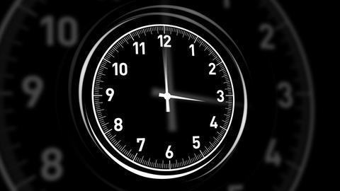 Clocks Black Stock Video Footage