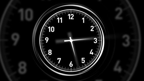 Clocks Black Animation