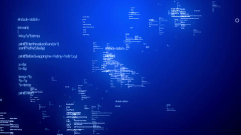 Coding Data Blue Stock Video Footage