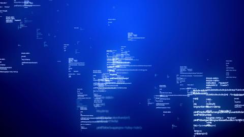Coding Data Blue Animation