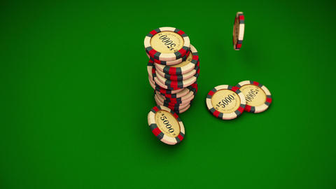 Casino Series Coins Stock Video Footage