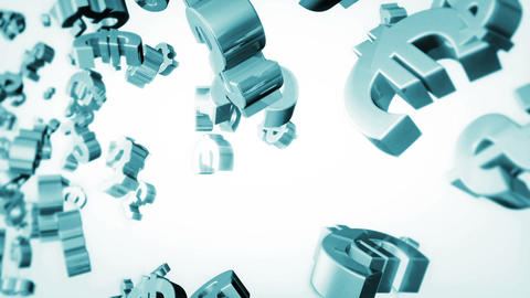Currency Loop Blue Stock Video Footage