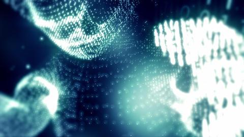 DigitalFetusNumbersBlue HD Stock Video Footage