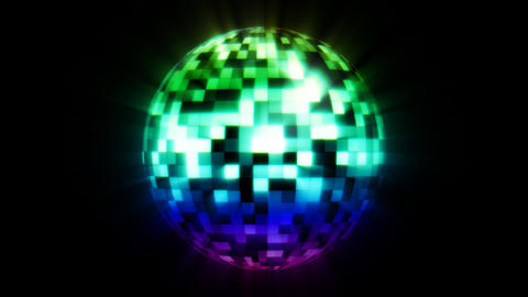 Discoball Color Stock Video Footage