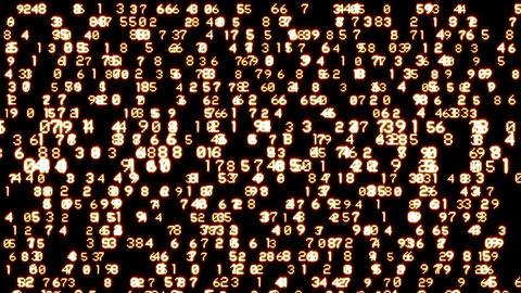 Flowing numbers Stock Video Footage