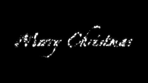 Merry Christmas Black Stock Video Footage