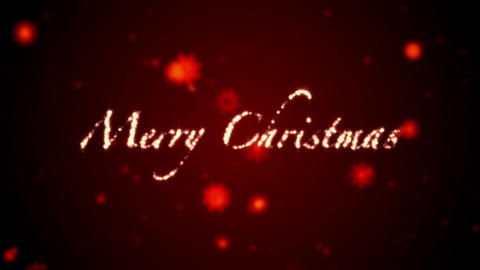 Merry Christmas red Stock Video Footage