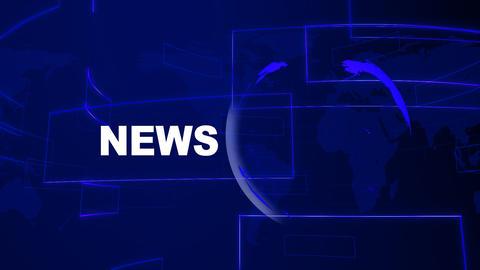 News Blue Animation