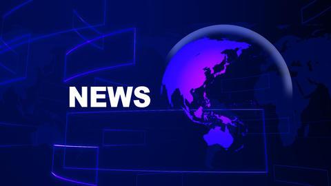 News Blue Stock Video Footage
