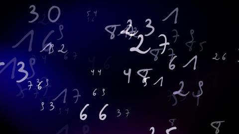 Numbers Loop Stock Video Footage