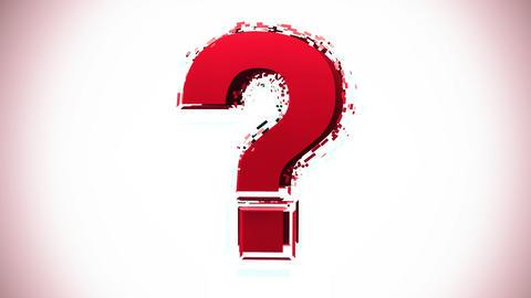 Question Mark Glitchy Animation