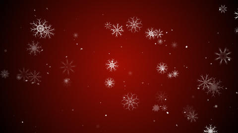 Snow flakes red Animation