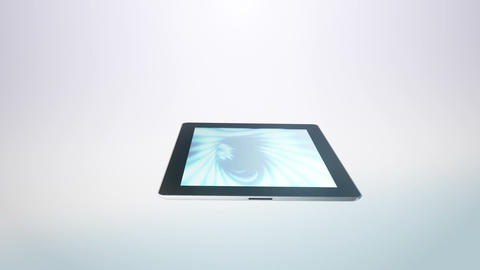 Tablet Moves White Stock Video Footage