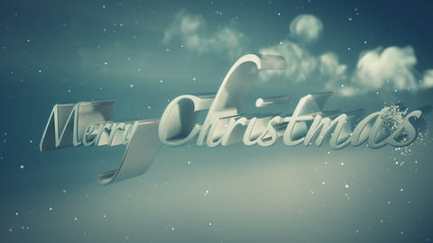 Xmass Title Blue stock footage