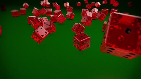 Dices Falling Stock Video Footage