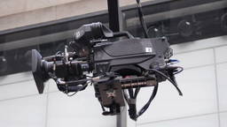 TV Camera Crane Stock Video Footage