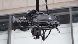 TV Camera Crane Footage