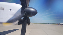 Airplane Propeller stock footage